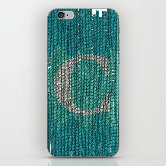 Winter clothes. Letter C. iPhone & iPod Skin