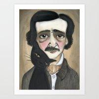Edgar Allan Poe And The … Art Print