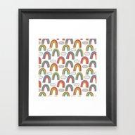 Pattern Project #45 / Ra… Framed Art Print