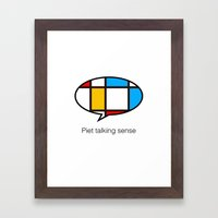 piet talking sense Framed Art Print