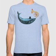 Cloud Maker  Mens Fitted Tee Tri-Blue SMALL