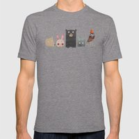 Animal love Mens Fitted Tee Tri-Grey SMALL