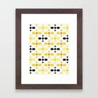 Stone Wall (Cockatoo Yellow) Framed Art Print