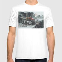 The spring of Absolute Valley Mens Fitted Tee White SMALL