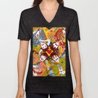 Unisex V-Neck featuring Sgt. Pepper's Lonely Hea… by Julia Minamata