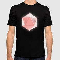 spatial geometry Mens Fitted Tee Black SMALL