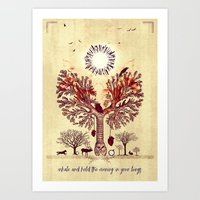 lung trees Art Print