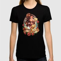 Till The Last Petal Fall… Womens Fitted Tee Black SMALL