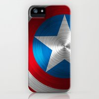 iPhone 5s & iPhone 5 Cases featuring Captain America by Kosept