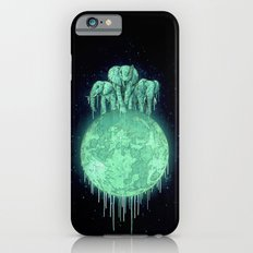 elephants on moon (variant) mint Slim Case iPhone 6s