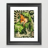 Kitune Framed Art Print