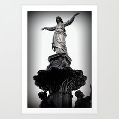 The Lady Of Fountain Square Art Print