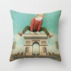 Parisian leapfrog  Throw Pillow