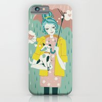iPhone Cases featuring  Walking the Dog by Paula McGloin