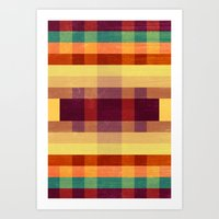 Autumn Winds Abstract  Art Print
