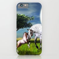 iPhone Cases featuring Horses Love Forever by Simone Gatterwe