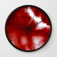 Cherry Cream Sky Wall Clock