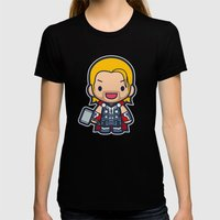 God Womens Fitted Tee Black SMALL