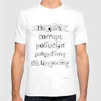 The Quick Corrupt Mens Fitted Tee White SMALL