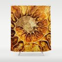 AMAZING AMMONITE Shower Curtain