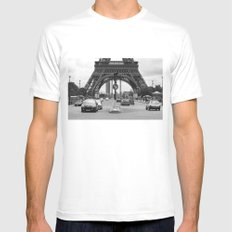 Paris transport Mens Fitted Tee White SMALL
