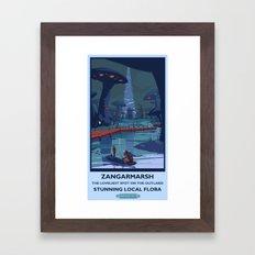 Zangarmarsh Classic Rail Poster Framed Art Print