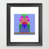 Bird Shape Framed Art Print