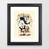 Yay! Whale of a Bath Time! Framed Art Print