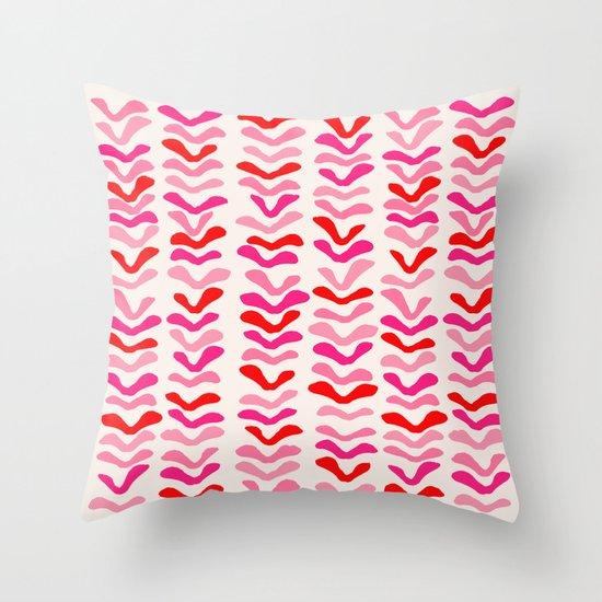 Rhythm Pink Throw Pillow