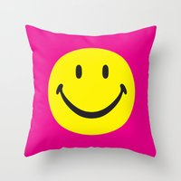 smiley02 Throw Pillow