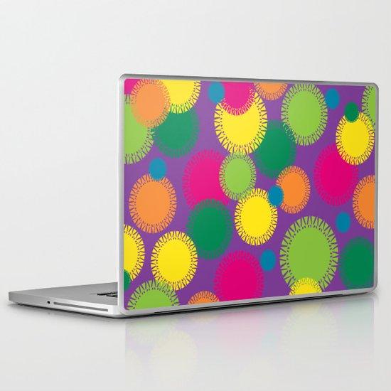 Spikey Circles Purple Laptop & iPad Skin