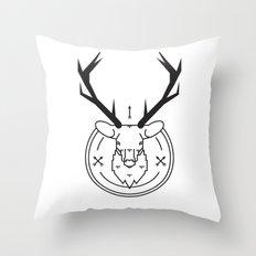 Hunters head Throw Pillow