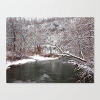 Frosty Creek Canvas Print