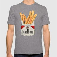 Fries Mens Fitted Tee Tri-Grey SMALL