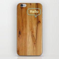Hello Wood iPhone & iPod Skin