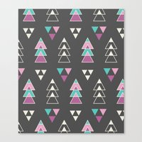 Mystic Triangles Canvas Print