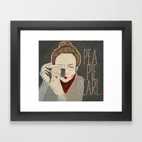 Pea Pie Pearl Framed Art Print