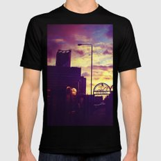 Sunset SMALL Black Mens Fitted Tee