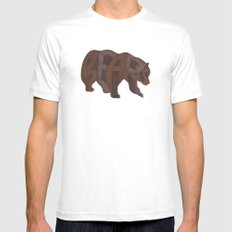 Bears Typography SMALL White Mens Fitted Tee