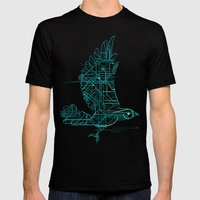 Wind-Up Bird Mens Fitted Tee Black SMALL