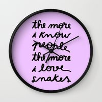 ALL MY FRIENDS ARE SNAKE… Wall Clock