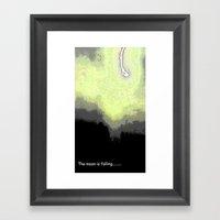 Falling Moon Framed Art Print