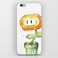 Fireflower Watercolor Pa… iPhone & iPod Skin