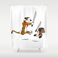 Bonifacio and Hobbes Shower Curtain