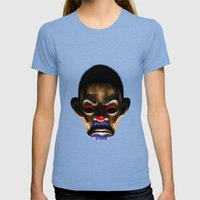 SINISTER Womens Fitted Tee Tri-Blue SMALL