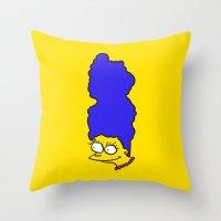 Misshapen Marge Throw Pillow