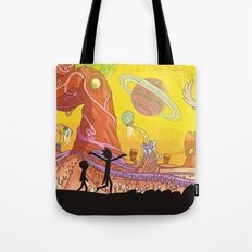 Rick and Morty - Silhouette Tote Bag