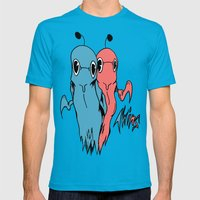 TWINS Mens Fitted Tee Teal SMALL