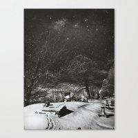 Cemetery Winter Dream Canvas Print