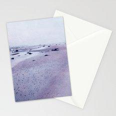 purple beach Stationery Cards